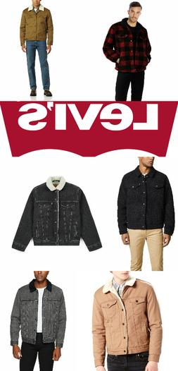 levis sherpa jacket denim trucker jackets black