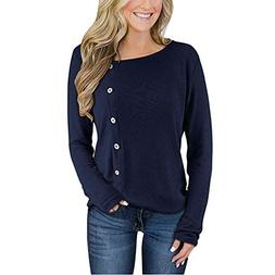 BEAUTYVAN Long Sleeve Blouse, Womens Long Sleeve Button Henl