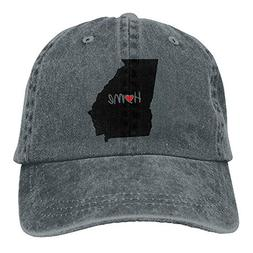 Love Georgia Home State Vintage Washed Baseball Cap Dad Hat