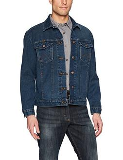 Wrangler Men's Western Style Unlined Denim Jacket, Dark Blue