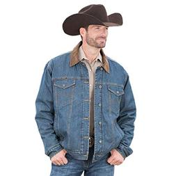 Wrangler Men's Conceal Carry Blanket Lined Denim Jacket