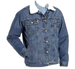 Cinch Men's Denim Jacket with Sherpa Lining and Concealed Ca