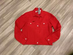 Calvin Klein Men's Denim Trucket Jacket, tango red rigid, Me