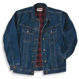 Men's Wrangler Rugged Wear Flannel Lined Denim Jacket Coat A