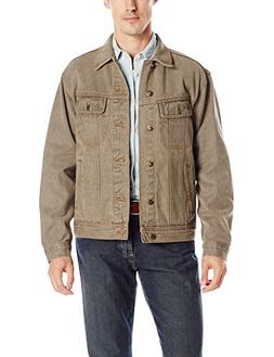 Wrangler Men's Rugged Wear Unlined Denim Jacket, Moss, Large