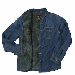 LEE Men's Sherpa Lined Denim Shirt Jacket