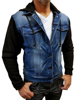 """Chopp Shop Jeans"" Men's Slim Stretch Denim Baseball Jacket"