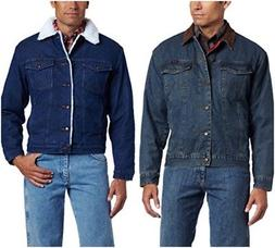 Wrangler Men's Western Style Lined Denim Jacket Cotton Class