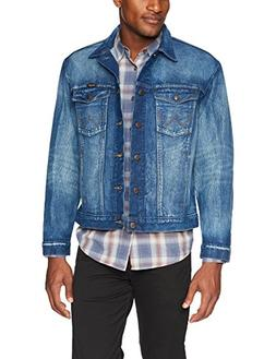 Wrangler Men's Western Style Unlined Denim Jacket, Dark Vint