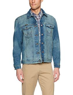 Wrangler Men's Western Style Unlined Denim Jacket, Mid Tint,