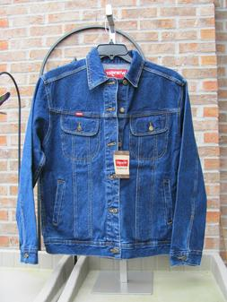 Wrangler Mens Denim Western Trucker Jean Jacket 4 pocket Siz