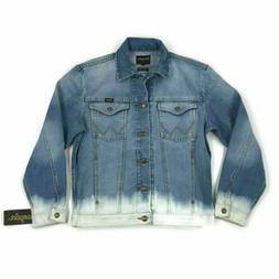 Wrangler Mens Jean Jacket Denim Rugged Wear Unlined Blue Ble