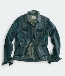 aeropostale mens medium wash stretch denim trucker jacket
