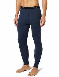 Duofold Men's Mid Weight Double Layer Thermal Pant, Blue Jea