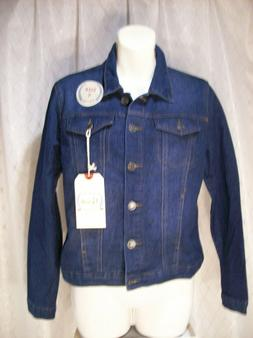 NEW Blue Jean Denim Jacket Size Small REVOLT Brand