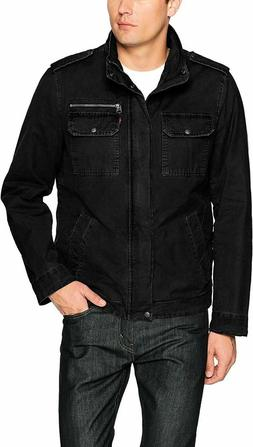 NEW Levi's Men's Washed Cotton Two Pocket Sherpa Lined BLACK