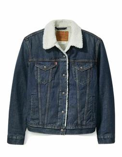 New Levis Premium Type III Sherpa Jean Denim Jacket Sizes S-