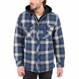 NEW Mens Boston Traders Quilted Lining Flannel Shirt Jacket