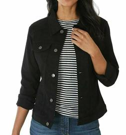 NEW Riders by LEE Indigo Women's Stretch Denim Jacket Black