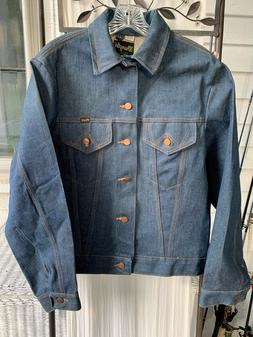 NEW UNWORN VINTAGE WRANGLER DENIM JEAN TRUCKET JACKET USA MA