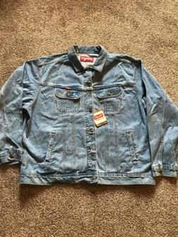 new w tags trucker blue denim button