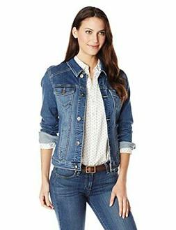 nice authentics women s stretch denim jacket