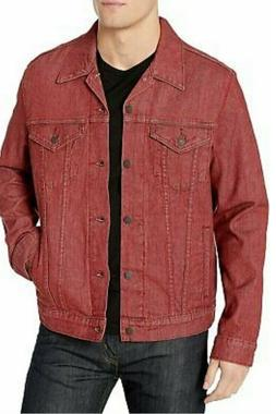 NWT $90 Levi's Denim Trucker Jacket Raw Ruby Red SizeM Jean