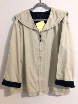 NWT New Denim & And Company Sailor Tan Khaki Jacket Size 2X