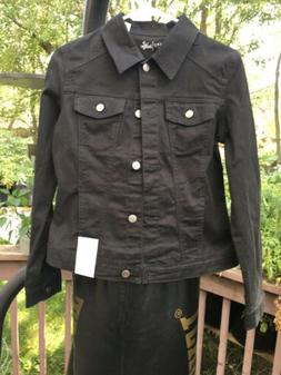 NWT Womens Riders by Lee Indigo Black Denim Trucker Jacket S