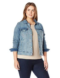 Levi's Women's Plus-Size Trucker Jacket, Ocean Sail, 2X