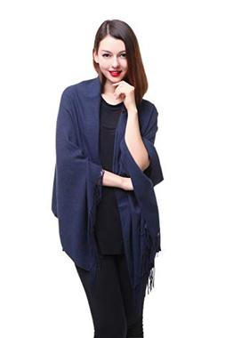 REEMONDE Womens Super Soft Long Shawl Solid Colors Warm Pash