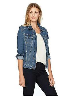Riders by Lee Indigo Women's Stretch Blue Denim Jacket X-Lar