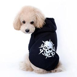 BEAUTYVAN, Pet Puppy Black Skull Coat Dog Clothes Costume Ja