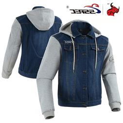 SSPEC Men Motorcycle <font><b>Jacket</b></font> <font><b>Den