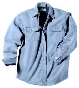 Tri-Mountain Men's Stonewashed Denim Shirt Jacket