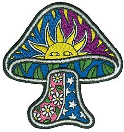 Sun Mushroom - Dan Morris, Sew on Embroidered PATCH for Jean