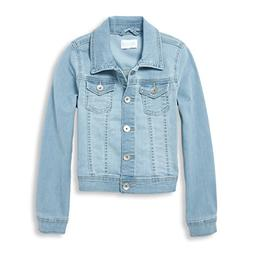 The Children's Place Big Girls' Denim Jacket, Light Linda wa
