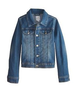 The Children's Place Girls' Denim Jacket Dark Stone Big Girl