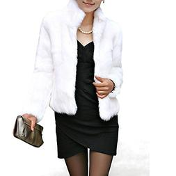 Toimoth Rabbit Fur Coat - Women Winter Knit Real Fur Jacket