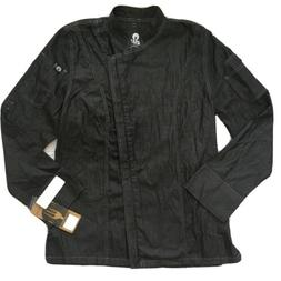 chef works Urban Collection Full Zip jacket Shirt NWT Black