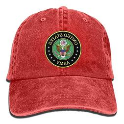 Jiuyuan Us Army Badge Baseball Cap for Men/Women Adjustable