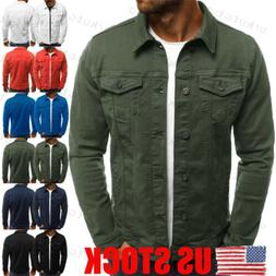 us new mens denim jean jacket classic