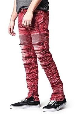 Victorious Distressed Acid Wash Zipper Accent Ankle Zip Laye