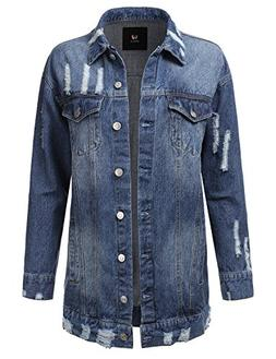vintage button down denim jacket for women
