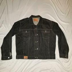 Vintage Guess Jean Jacket 80s 90s Mens 2XL XXL Black Denim C