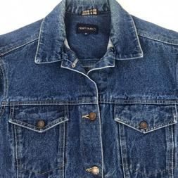 VTG Calvin Klein Women's Blue Denim Trucker Jacket Size Medi