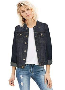 Women Junior Classic 4 Pockets Denim JacketJK175592X Dark WA