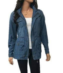 Women's Denim  Chambray LightWeight  Anorak Shirt Jacket