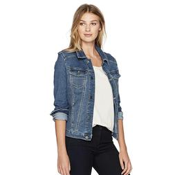 Riders by Lee Women's Denim Jacket Blue Weathered Size Small