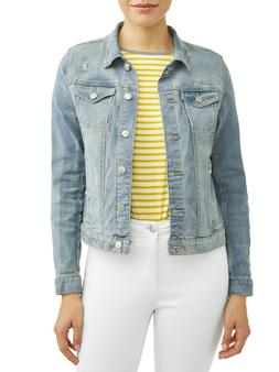 Time And Tru Women's Denim Jacket Light Wash L